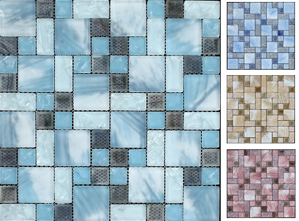 Beauty of Ice & Snow - Magic Cube Ice Crackled Glass Mosaic