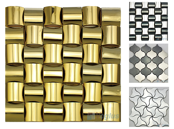Unique Shape Stainless Steel Metal Mosaic