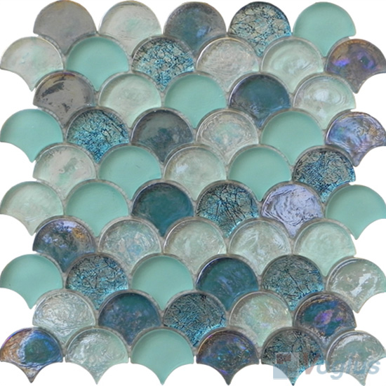 Unique Shape Glass Mosaic Voglus Mosaic