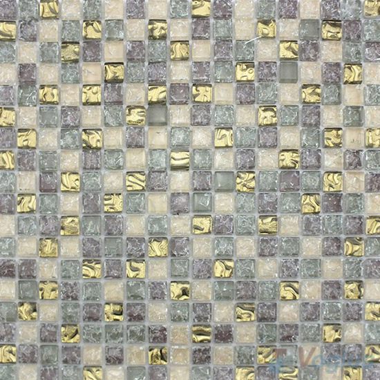 Ash Gray Ice Crackle Glass Mosaic VG-CKA93
