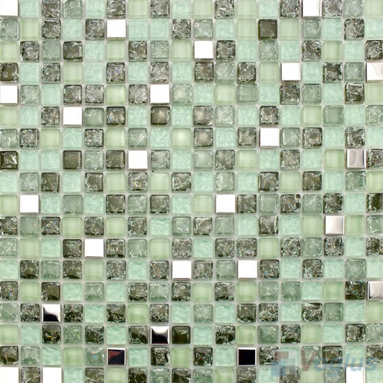 Asparagus Ice Crackle Glass Mosaic VG-CKA87