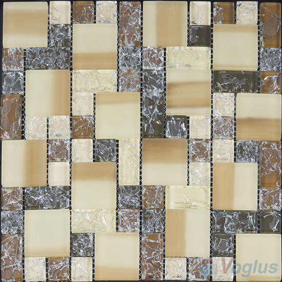 Brownty Magic Cube Ice Crackle Glass Mosaic Tiles VG-CKM99