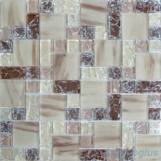 Fallow Magic Cube Ice Crackle Glass Mosaic Tiles VG-CKM86