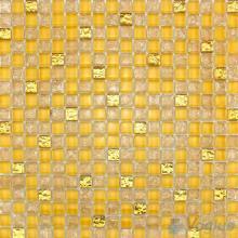 Amber Ice Crackle Glass Mosaic VG-CKA94