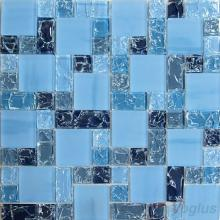 Baby Blue Eyes Magic Cube Ice Crackle Glass Mosaic Tiles VG-CKM90