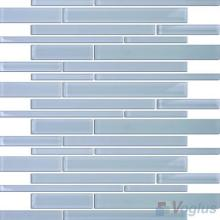 Blue-gray Linear Clear Crystal Glass Mosaic VG-CYL90