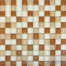 Brown Mixed 8mm Thickness Crystal Glass Tiles VG-CYB96