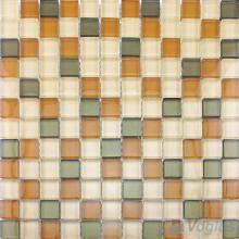Brown Mixed 8mm Thickness Crystal Glass Tiles VG-CYB99