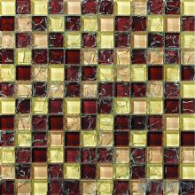 Brown Mixed Ice Crackle Crystal Glass Mosaic VG-CKB98