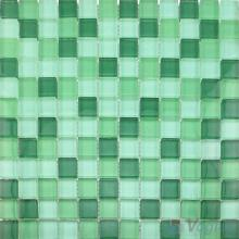 Green Mixed 8mm Thickness Crystal Glass Tiles VG-CYB97