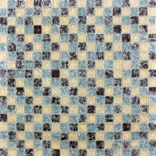 Herringbone Pattern Ice Crackle Glass Mosaic VG-CKA98