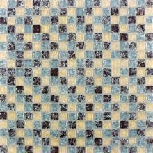 Herringbone Pattern Ice Crackle Glass Mosaic VG-CKA98