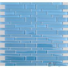 Maya Blue Linear Clear Crystal Glass Mosaic VG-CYL95