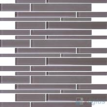 Mountbatten Pink Linear Clear Crystal Glass Mosaic VG-CYL91