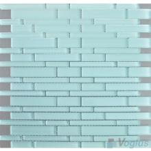 Powder Blue Linear Clear Crystal Glass Mosaic VG-CYL94