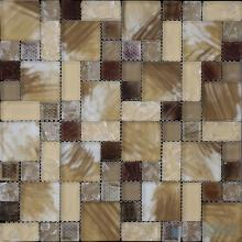 Russet Magic Cube Ice Crackle Glass Mosaic Tiles VG-CKM95