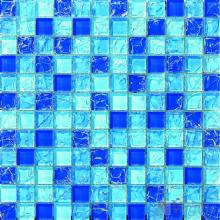 Sky Blue Mixed Ice Crackle Crystal Glass Mosaic VG-CKB97