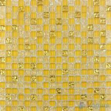 Stil de Grain Yellow Ice Crackle Glass Mosaic VG-CKA91