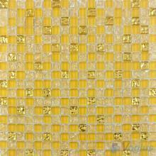 Stil de Grain Yellow Ice Crackle Glass Mosaic VG-CKA91