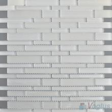 White Smoke Linear Clear Crystal Glass Mosaic VG-CYL96