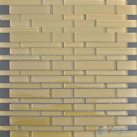 Vanilla Linear Clear Crystal Glass Mosaic VG-CYL97