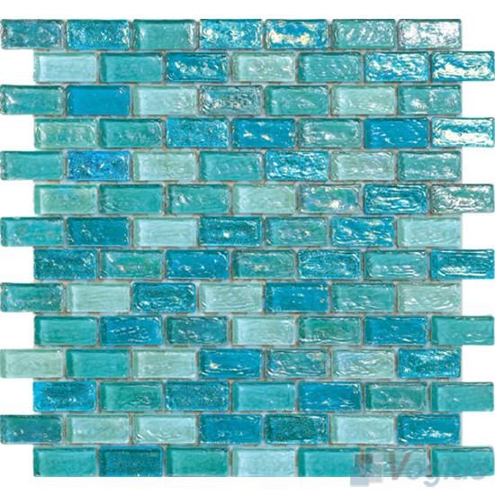 Aqua Subway Glazed Iridium Gl Mosaic Tile Vg Rdp90