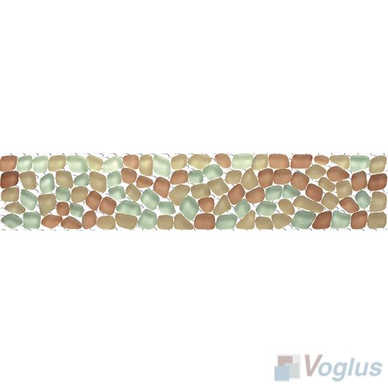 Chestnut Glass Mosaic Border VG-PBD98