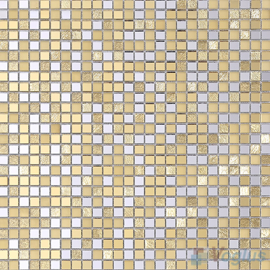 Gold 10x10mm Mini Cut Mirror Glass Mosaic VG-MRJ97