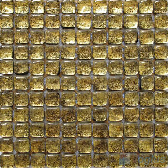 Gold Bread Shape Gold Leaf Glass Mosaic Tile VG-UBD97