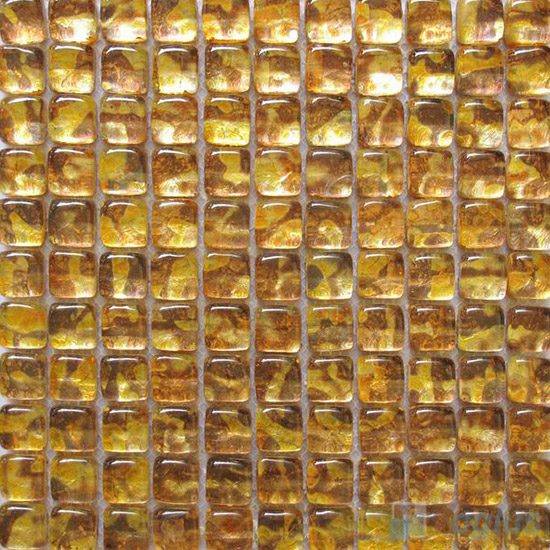 Goldenrod Bread Shape Gold Leaf Glass Mosaic Tile VG-UBD94