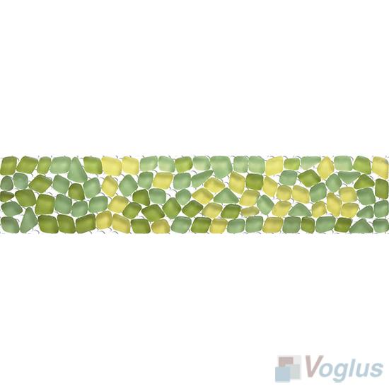Green-Yellow Glass Mosaic Border VG-PBD96