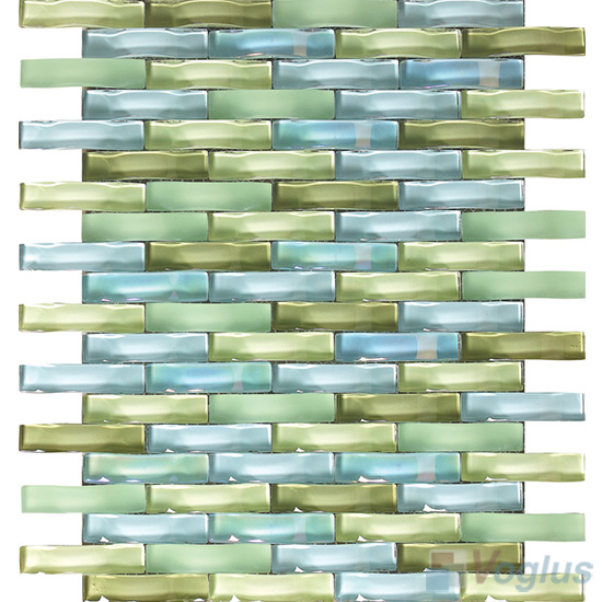 Mantis Arch Wavy Glass Mosaic Tiles VG-UWY92