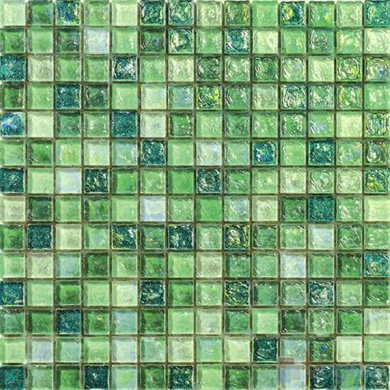 Pistachio Glazed Iridescent Glass Mosaic VG-RDF98