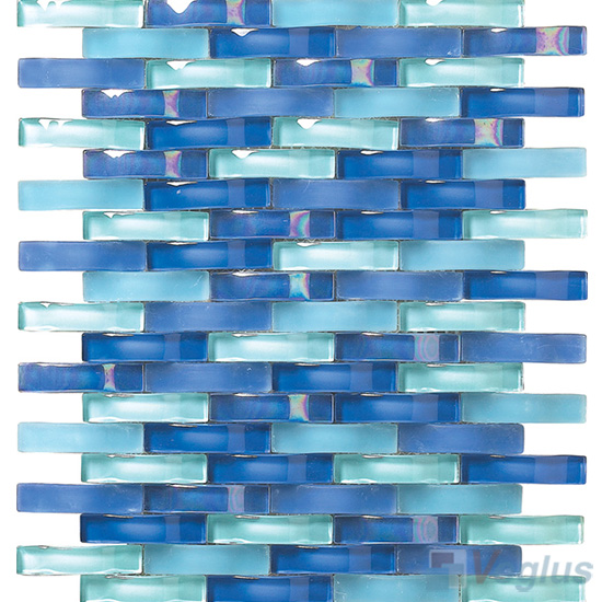 Royal Blue Arch Wavy Glass Mosaic Tiles Vg Uwy94 Voglus