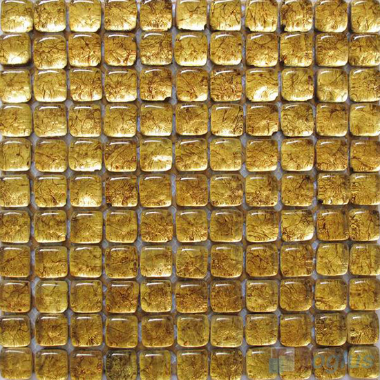 Saffron Bread Shape Gold Leaf Glass Mosaic Tile VG-UBD99