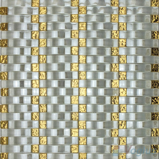 Silver Arch Wavy Glass Mosaic Tiles VG-UWY98