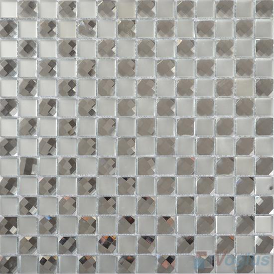 Silvero 20x20mm Jewel Mirror Glass Mosaic Tile VG-MRF95