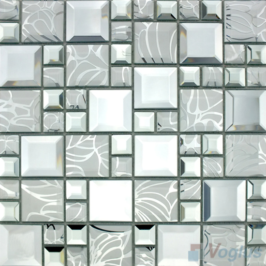 Silvero Magic Cube Mirror Glass Mosaic Tiles VG-MRM96