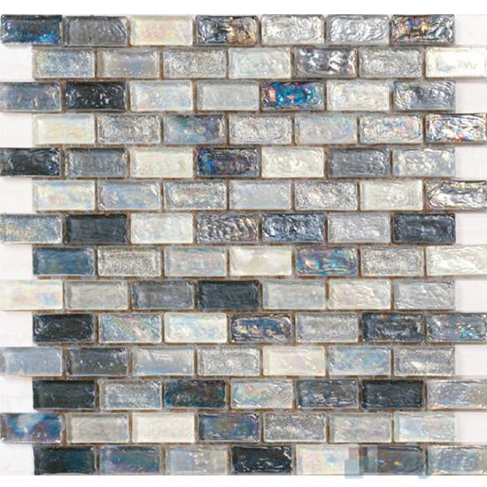 Silvero Subway Glazed Iridium Glass Mosaic Tile VG-RDP89