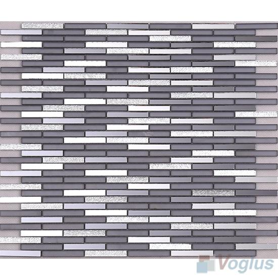 Slate Gray Bullet Mirror Glass Tiles VG-MRL98