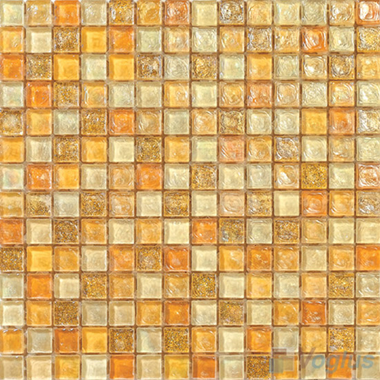Sunglow Glazed Iridescent Glass Mosaic VG-RDF94
