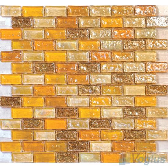 Sunglow Subway Glazed Iridium Glass Mosaic Tile VG-RDP93