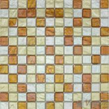 1x1 Gold Foiled Glass Mosaic Tile VG-GFB99