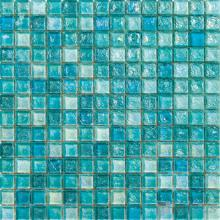 Aqua Glazed Iridescent Glass Mosaic VG-RDF95