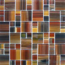 Bistre Magic Cube Hand Painted Glass Mosaic Tiles VG-HPM96