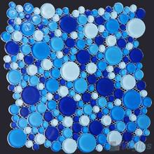 Blue Mixed Pebble Bubble Glass Mosaic Tile VG-UPB98