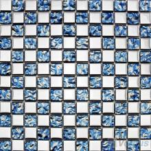 Blue Rough Metal Plated Glass Mosaic Tile VG-PTB95