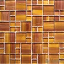 Carrot Orange Magic Cube Hand Painted Glass Mosaic Tiles VG-HPM95