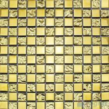 Gold Rough Metal Plated Glass Mosaic Tile VG-PTB98