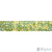 Green-Yellow Glass Mosaic Border VG-PBD96